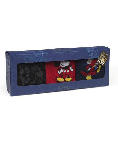 Cufflinks Inc. Men's 90th Anniversary Mickey Mouse Disney Socks in 3 Pack