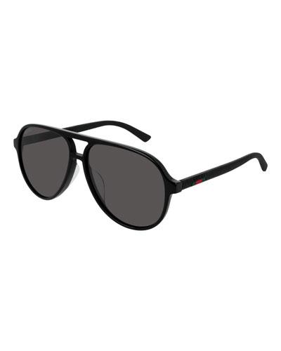 5e764a7c4ef0 Quick Look. Gucci · Men's GG0423SA001M Acetate Aviator Sunglasses