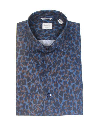 Men's Extra Soft Print Dress Shirt