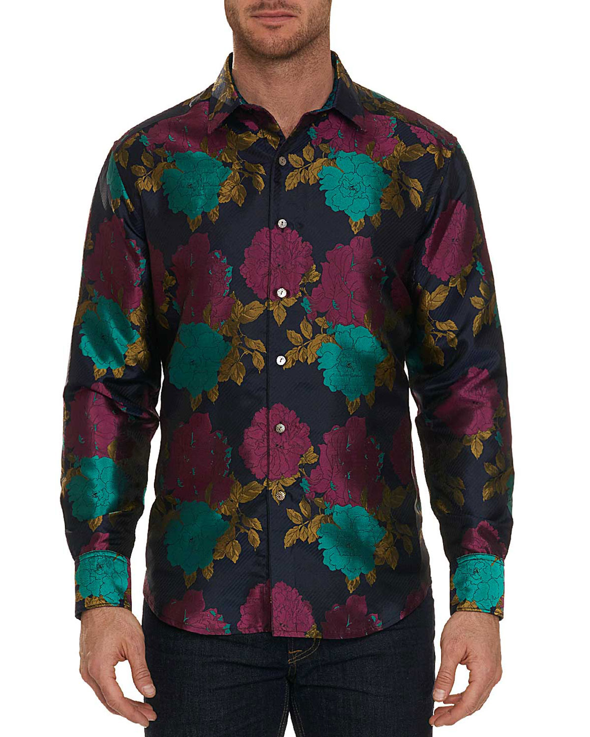 ROBERT GRAHAM Tango Limited Edition Classic Fit Silk Sport Shirt in Multicolor