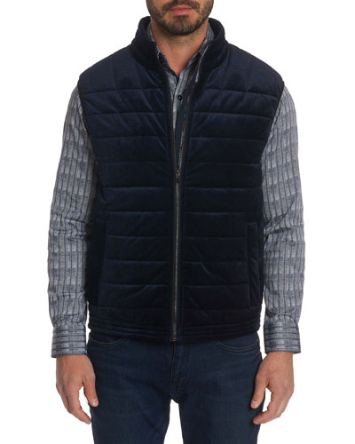 Men's Guiffery Quilted Velvet Vest