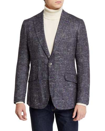 Men's Honcut Silk Tweed Two-Button Jacket