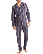 Hanro Noe Striped Classic Two-Piece Pajamas