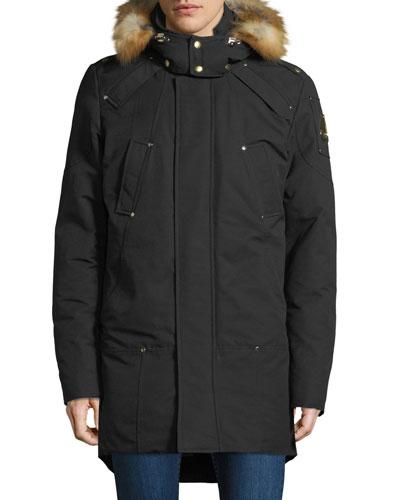 Men's Sommerset Parka Coat with Fur Trim