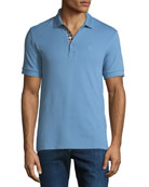 Burberry Men's Hartford Polo Shirt, Light Blue