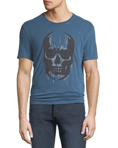 Men's Faded Skull Graphic T-Shirt