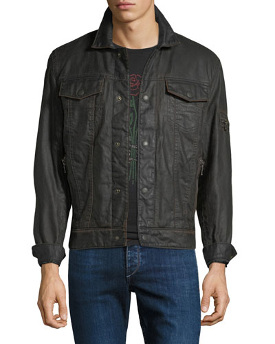 Men's Zip-Pocket Jean Jacket