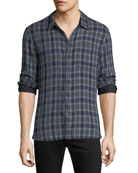 John Varvatos Star USA Men's Reversible Plaid Sport
