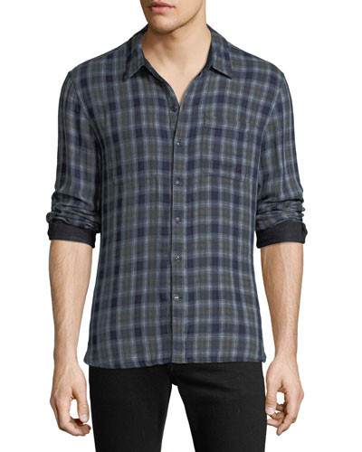 Men's Reversible Plaid Sport Shirt