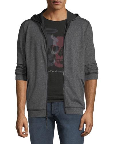 Men's Double-Knit Zip-Front Hoodie