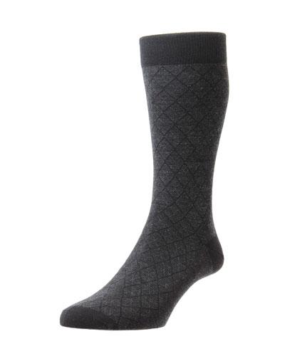 Men's Doughty Diamond Feeder Stripe Socks