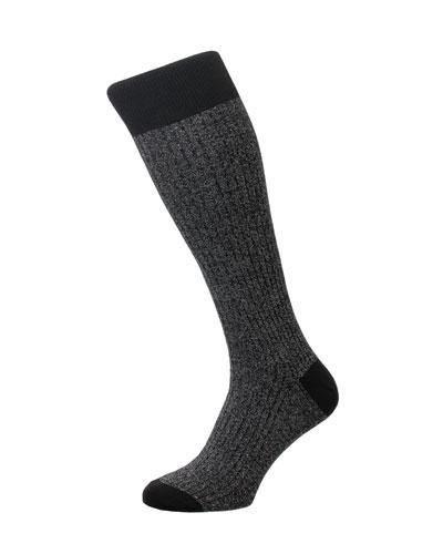 Men's Scala Rib-Knit Socks