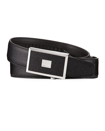 30mm Cadogan Grained Leather Belt with Auto Buckle