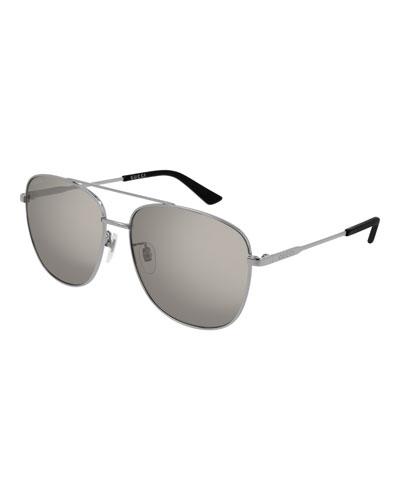 Men's GG0410SK002M Aviator Sunglasses