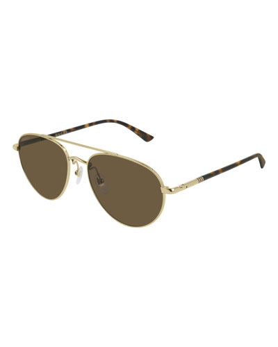 031caa0f02a Quick Look. Gucci · Men s GG0388S006M Metal Aviator Sunglasses - Polarized.  Available in Gold