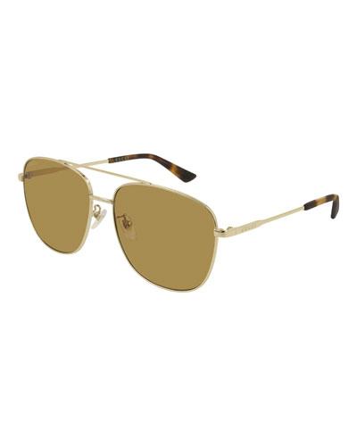 Men's GG0410SK004M Aviator Sunglasses