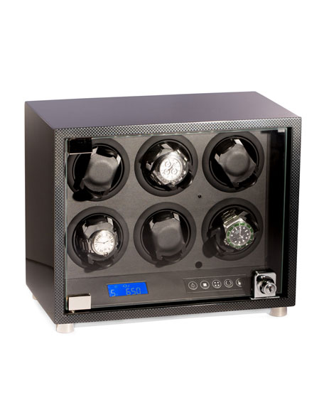 Bey-Berk Carbon Fiber-Design 6-Watch Winder