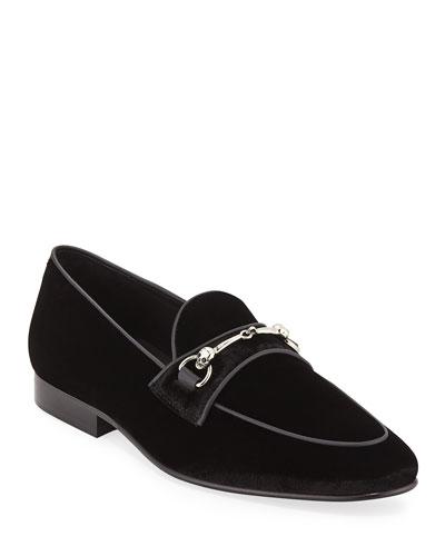 Men's Velvet Slip-On Loafers