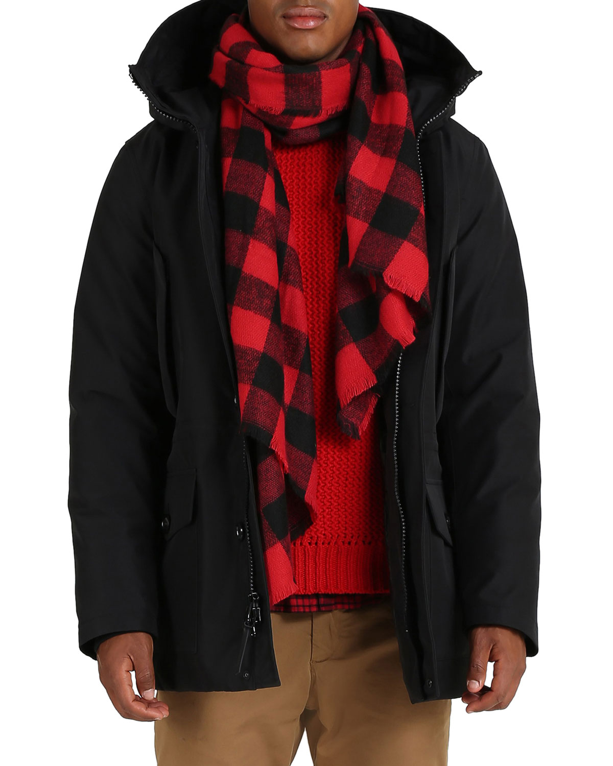 Men's Mountain Puffer Parka Coat