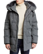 Andrew Marc Men's Rockland Down Parka with Fur