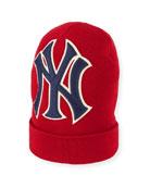 Gucci Men's New York Yankees MLB Patch Beanie