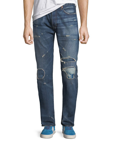 Men's Made & Crafted 501™ Original-Fit Distressed Jeans