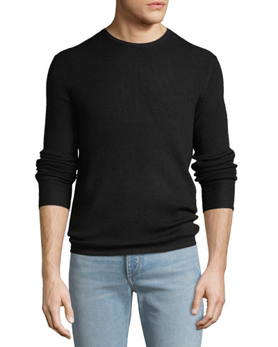 Men's Gregory Waffle-Knit Merino Wool Sweater