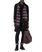Burberry Men's Rainbow Vintage-Check Cashmere Scarf
