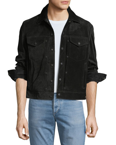 Men's Suede Trucker Jacket
