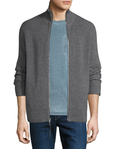 ea1c4ddf8a19 Quick Look. Rag   Bone · Men s Andrew Rib-Knit Zip-Front Sweater