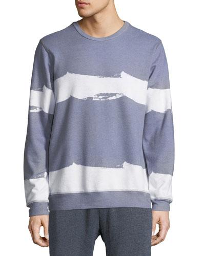 Men's Border Wave Striped Sweatshirt