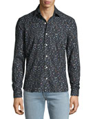 Culturata Men's Abstract-Print Sport Shirt