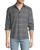 Culturata Men's Cozy Plaid Sport Shirt