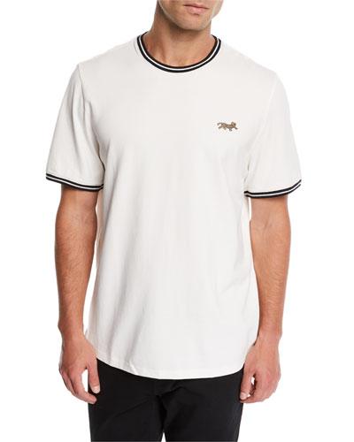 Men's Leopard-Applique Pique T-Shirt