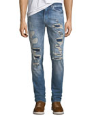 Hudson Men's Axl Ripped Stretch-Denim Skinny Jeans
