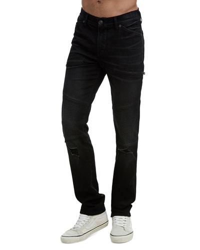 Men's Rocco Moto Coal Mine Jeans