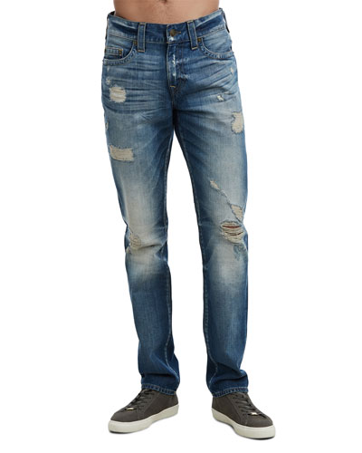 Men's Geno Worn Rebel Distressed Jeans
