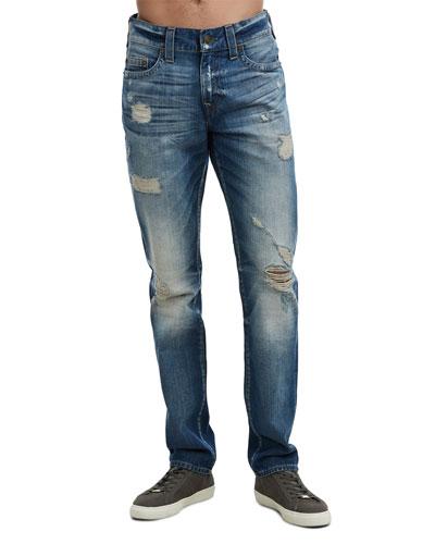 Men's Geno Worn Rebel Distressed Jeans
