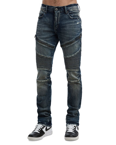 bfdc6f64fb38 Quick Look. True Religion · Men's Rocco Moto Combat Blue Jeans