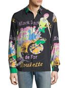 Ovadia & Sons Men's Blackjack Graphic Sport Shirt