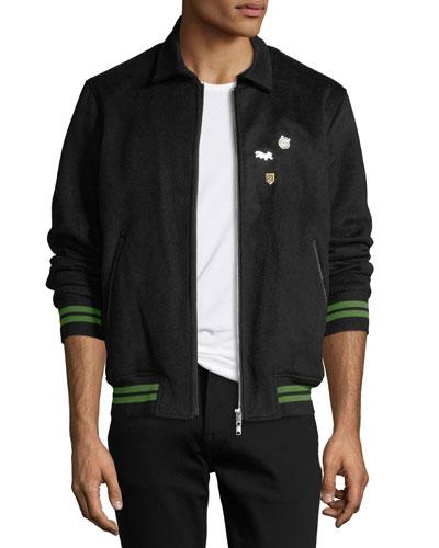 Men's Casino Wool Bomber Jacket