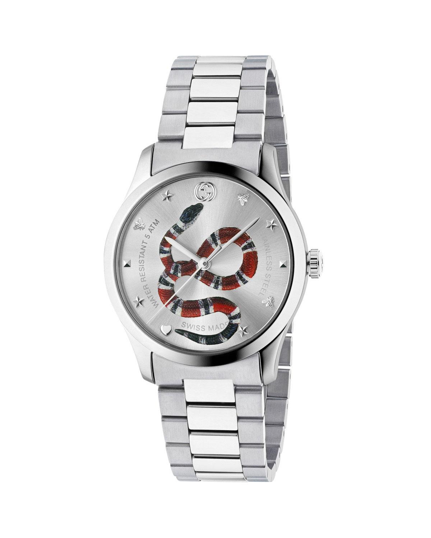 Men's Snake Stainless Steel Bracelet Watch