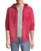 Ovadia & Sons Men's Type-O1 Washed Jersey Zip-Front