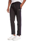 Ovadia & Sons Men's Side-Stripe Ball Track Pants