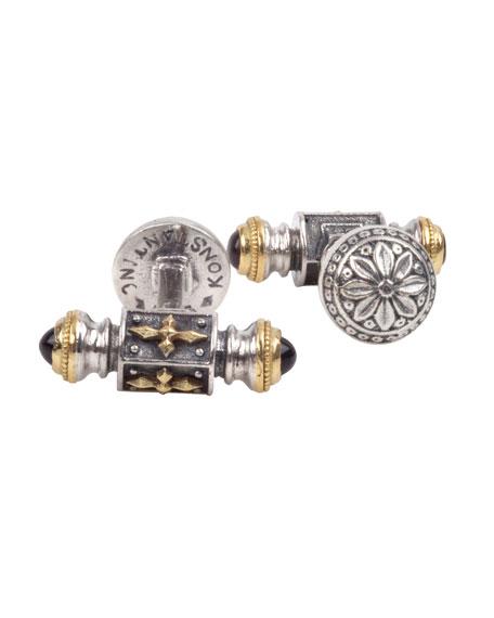 Konstantino Men's Stavros Sterling Silver & 18k Gold Cuff Links