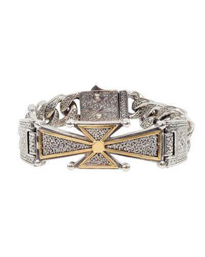 Men's Stavros 18k Gold Cross Bracelet
