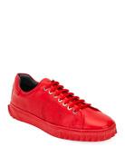 Salvatore Ferragamo Men's Cube 13 Low-Top Sneakers