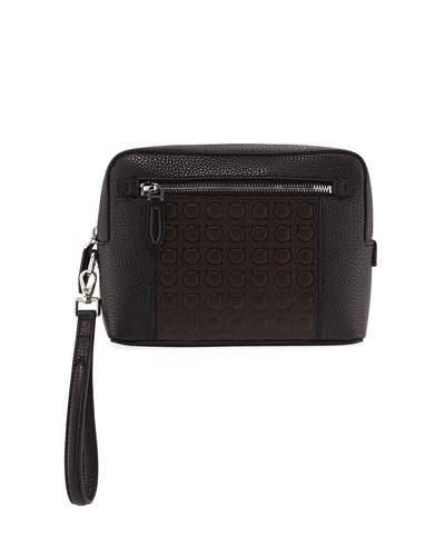 Men's Firenze Gamma Textured Leather Belt Bag