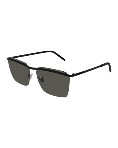 31709b34ae Quick Look. Saint Laurent · Men s SL243 Flat-Top Sunglasses. Available in  Black