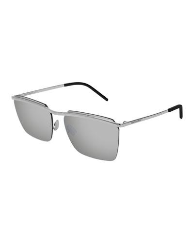 37d94c456bcf Quick Look. Saint Laurent · Men s SL243 Flat-Top Sunglasses ...